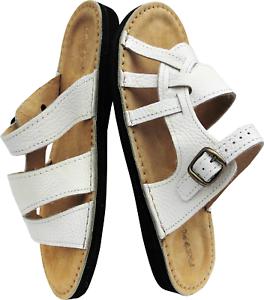 Sandalen - Pantolette - Hausschuhe - Gr.41 Echt Leder *Weiss* (23-5-7-29)