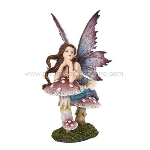 Meadown Legends Fantasy Decor Fairy Mushroom Wishing Magical Statue Figurine
