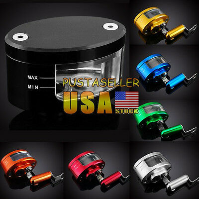 Brake Tank Oil Fluid Resevoir Universal For YZF R6 R1 FZ1 Z1000 Z750 ZX 7 Color