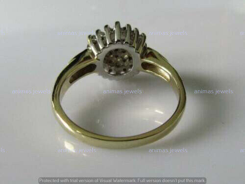 1.50Ct Round Cut VVS1//D Diamond Cluster Engagement Ring 14K Yellow Gold Finish