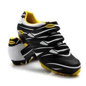 Tiebao MTB Bike Shoes Professional Sports Shoes Lock Shoes New Black White