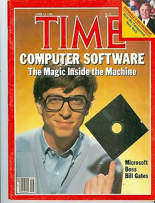 magazine time MICROSOFT  WINDOWS  BILL  GATES  APRIL 16 1984  NO LABEL