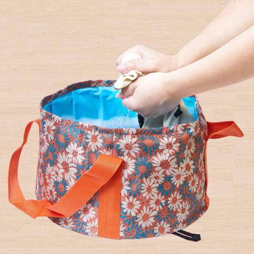 Portable Folding Camping Bucket Outdoor Wash Basin For Fishing Equipment 15L DP//