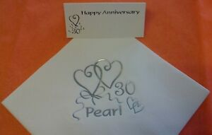 20 x Pearl Anniversary Napkins 33cm 3ply 30 Years 30th Wedding Party Tableware