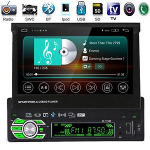 Autoradio-con-Bluetooth-7-034-1din-schermo-mp5-mp3-FM-AUX-SD-USB-TF-Touch-Screen