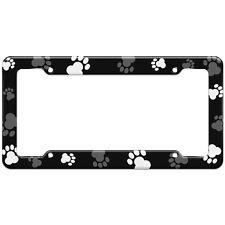Paw Print Dog Cat Pattern License Plate Frame