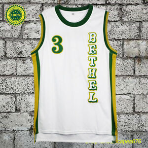 32c0f5e26989 Allen Iverson  3 Bethel High School Basketball Jersey Men White All ...