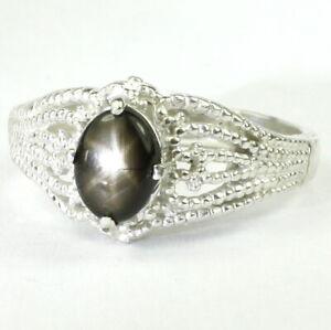 Black-Star-Sapphire-Solid-925-Sterling-Silver-Ladies-Ring-SR365-Handmade