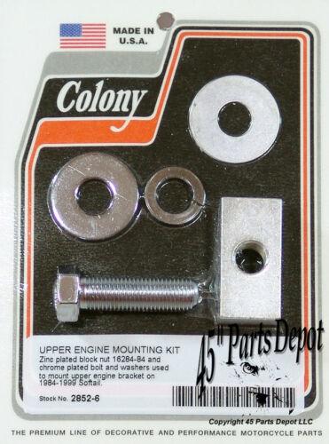 Harley 84-99 Softail Top Motor Mount Kit Chrome Colony 2852-6