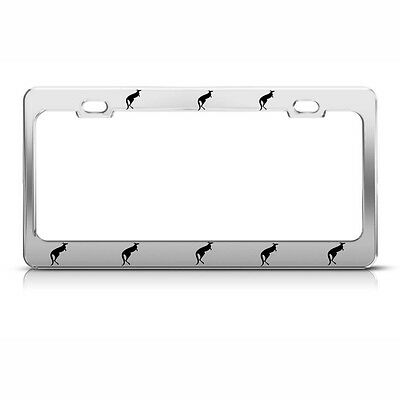 MASON License Plate Frame Metal Chrome Steel Heavy Duty Tag Border WHITE LETTERS
