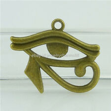 15810 10pcs Alloy Bronze Egyptian Eye of Horus / RA Amulet Pendant Charm