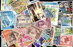 Ghana-et-cote-de-l-039-or-500-timbres-differents