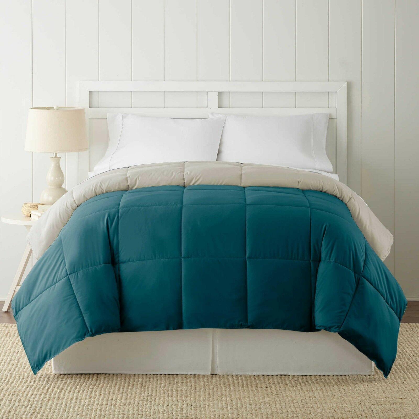Bed Pacific Coast Textiles Down Alternative Reversible King Comforter Blau Coral