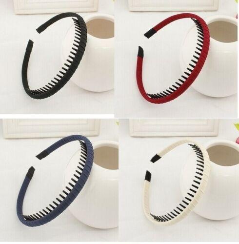 Haarreif  Haarband mit  Zähnen CHIFFON  feines Haar 6 verschiedene Farben EDEL