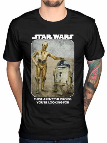 Officiel Star Wars T-Shirt DROIDS R2D2 C3PO galaxy new hope lucasfilm force jedi