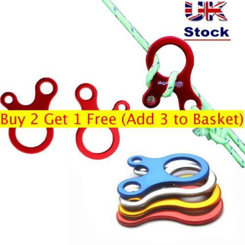 5pcs Tent Awning Cord Rope Fastener Guy Line Runners Tensioner Hook Hanger UK