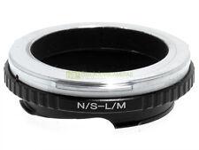 Anello adapter x montare ottiche Nikon S su corpi Leica M. Adattatore. ALM.