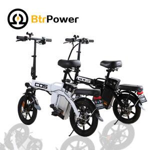 "14"" 350W Motor Folding City Electric Bike 48V 14AH Li-Ion Battery Xmas gifts"
