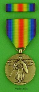 WWI-Victory-Medal-amp-Ribbon-Bar-U-S-USA-made-United-States-World-War-One-WW1