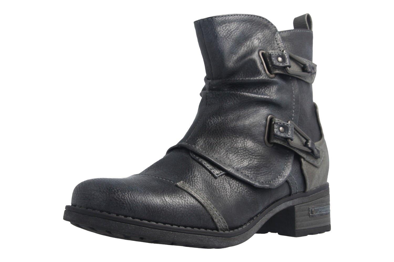 MUSTBNG - Damen Boots - Blau Schuhe in Übergrößen