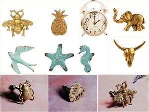 Vintage Tiroir Poignée Tirette Shabby Chic Rustique Abeille Horloge Oiseau Pineapple Sea-afficher Le Titre D'origine