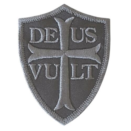deus vult god wills it ACU subdued morale battle cry knights hook/&loop patch