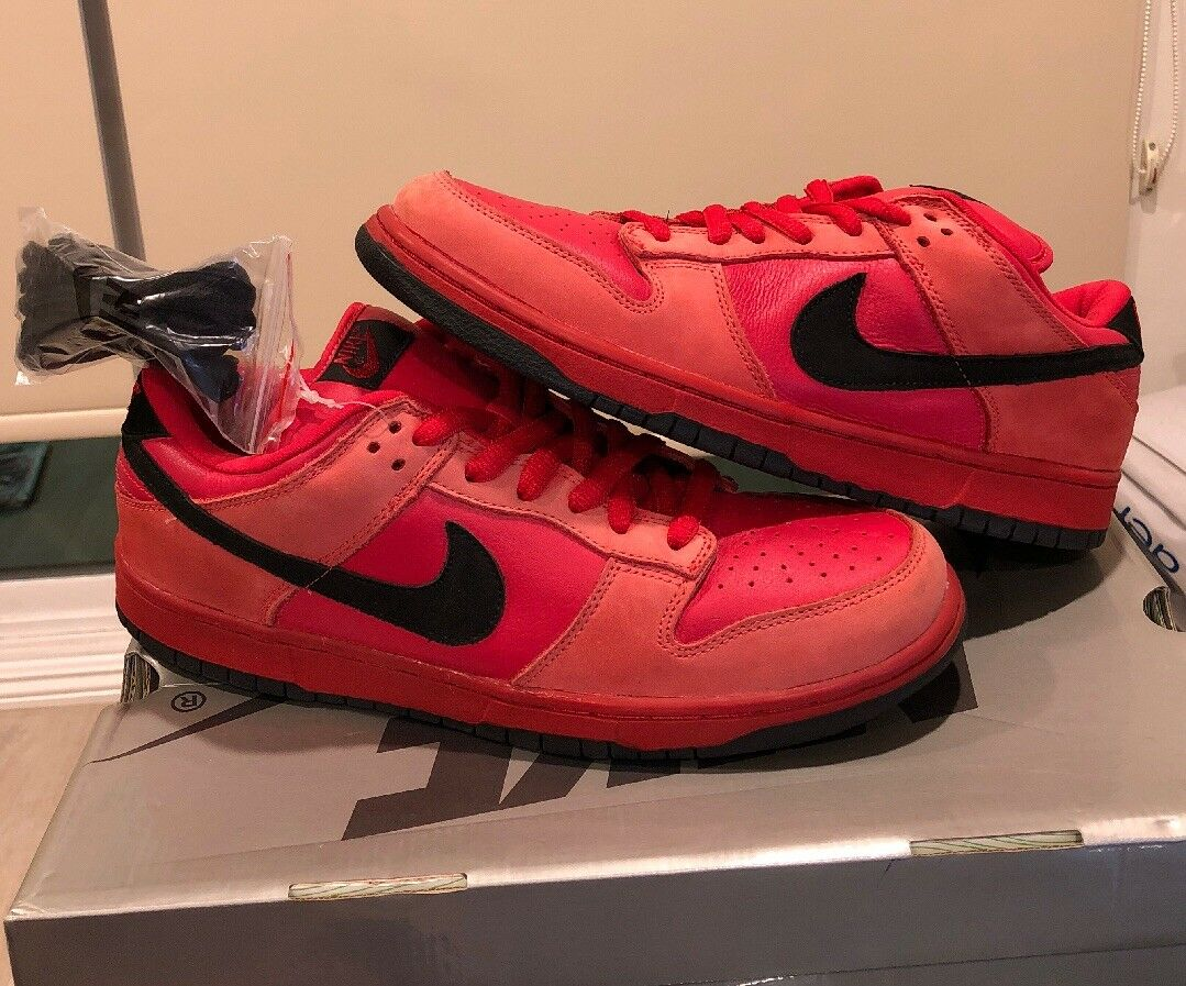 Nike Dunk Low Pro Sb True Red Vamps Red Black Vamprie 2018 Silver Barf Box 11.5 Seasonal price cuts, discount benefits