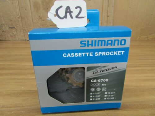 CA3 NOS ULTEGRA CS-6700 10 SPEED CASSETTE 11-23 with lockring UNUSED