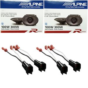 Alpine R-Series 6 x 8 Inch 300 Watt 2-Way Car Speakers W// Ford Harness 1998-UP
