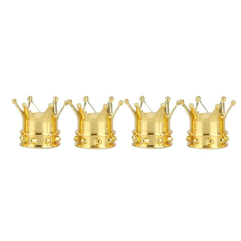 Gold Ventile für Autoreifen, Performance 4 Ventilkappen als Kronen
