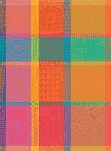Garnier-Thiebaut-Jacquard-Kitchen-Dish-Towel-French-MILLE-WAX-CREOLE-Multicolor