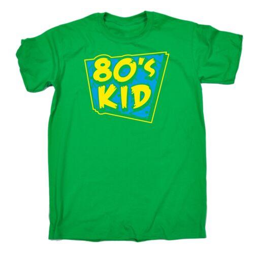 Mens 80s Kid T-SHIRT Costume Retro Fancy Dress Disco eighties 80/'s birthday