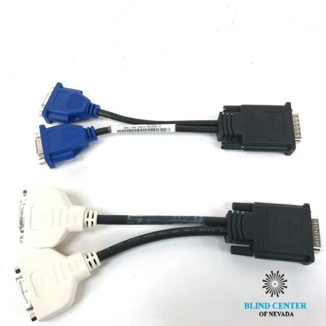 2 DMS-59 to Dual DVI Y Video Splitter Cable Dell H9361 Molex and VGA Splitter