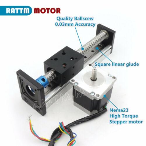 【EU】Linear Stage Module L=500mm Load Sliding Table RM1605 Ballscrew Nema23 Motor
