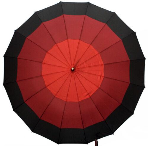 16 Schienenanzahl sehr stark Automatischer mehrfarbig Damen regenschirm XL