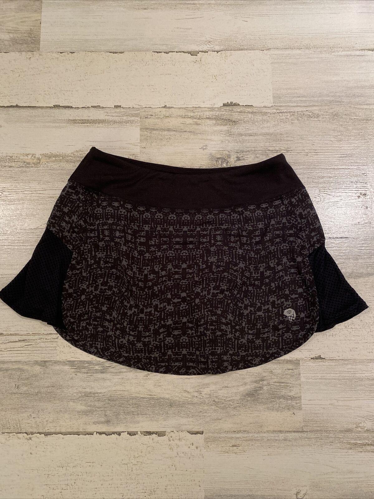 Mountain Hardwear Women's Sz S Black Gray Tennis Outdoor Hiking Skirt Skort