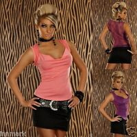727 LADIES SEXY CLUBBING TOP PARTY SLEEVELESS LACE BACK SHIRT