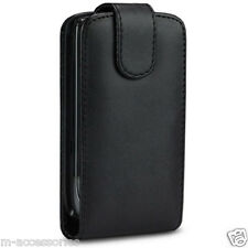 PU LEATHER BLACK FLIP CASE POUCH COVER FOR NOKIA ASHA 503 MOBILE PHONE