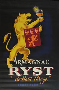 Ryst - Affiche Ancienne Années 4o -150 X 100 Cm Excellent état