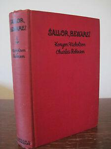 1st-Edition-SAILOR-BEWARE-Kenyon-Nicholson-Charles-Robinson-DRAMA-Play-FICTION
