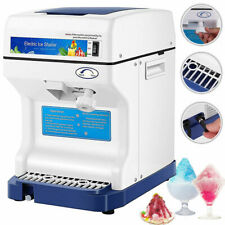 Electric Ice Crusher Shaver Shaving Snow Cone Maker Machine 265lbshr Commercia