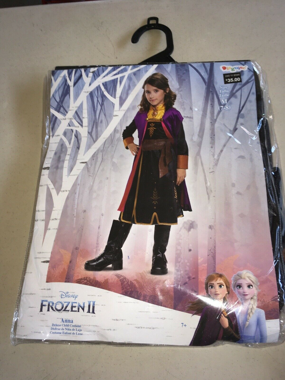 H3 Disguise Girl's Disney Frozen 2 Anna Deluxe Costume Dress Up Sz. M 7-8 NWT