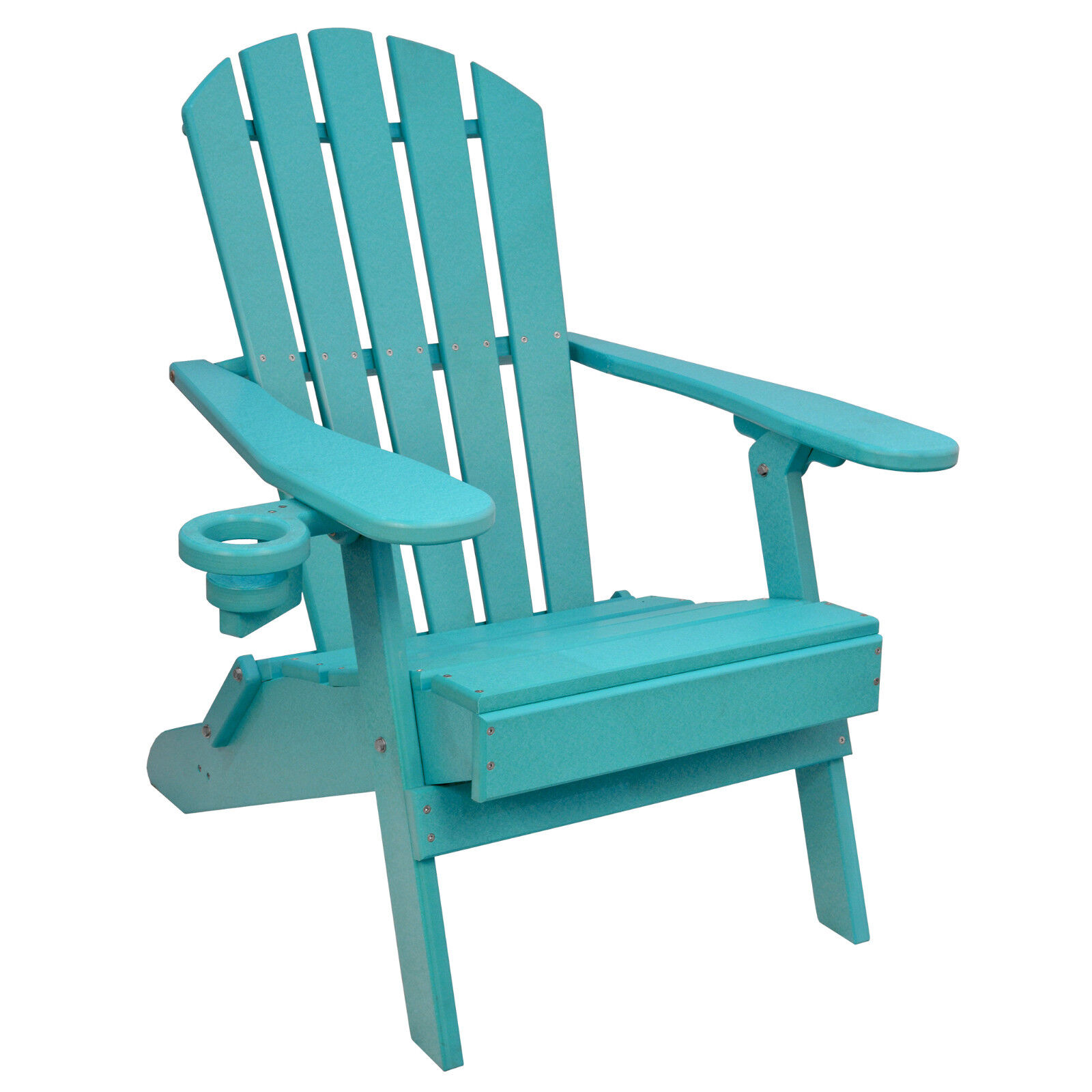 Details About Outer Banks Value Line Poly Lumber Folding Adirondack Chair W Cupholder