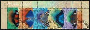1998-AUSTRALIA-BUTTERFLIES-Strip-5-FU-CTO