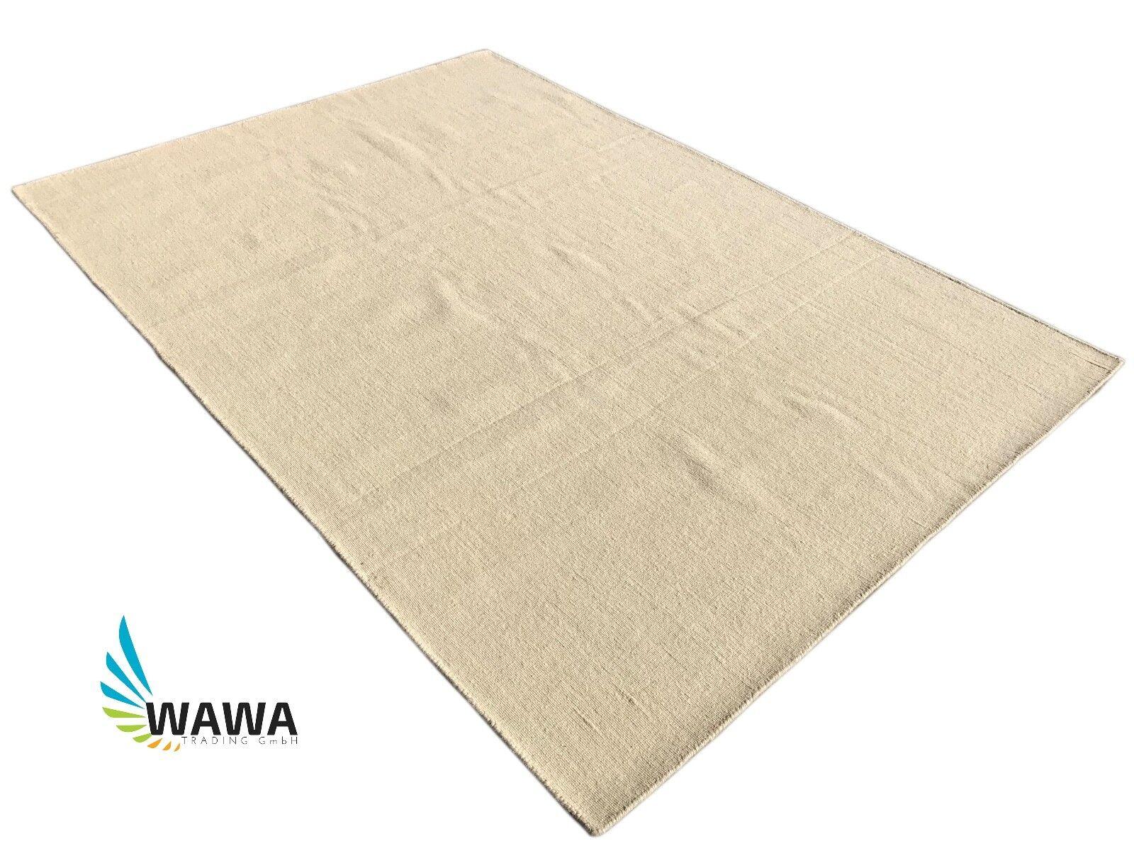 Kilim tejida lana Kilim 160x230 cm 100% lana tejida Loom Durrie beige b32b10