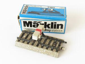 MARKLIN-RAIL-DROIT-AVEC-HEURTOIR-VOIE-M-REF-7190-ECHELLE-H0-1-87-2