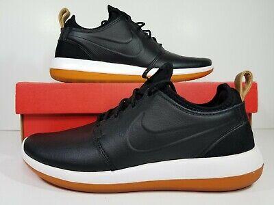 Editor viudo ropa  Nike Roshe Two Leather Premium Men's Size 7 Black Gum Bottoms Shoes  881987-001 | eBay