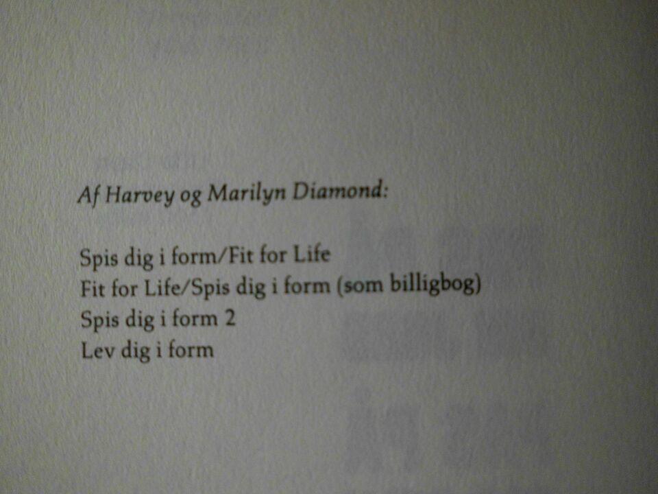 Pas på din jord- pas på dig selv, Harvey Diamond, emne: anden