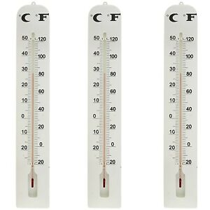 3-PACK-LARGE-INDOOR-OUTDOOR-WALL-THERMOMETER-Weather-Resistant-Hanging-Analog