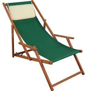 Fauteuil de Plage Bois Transat Chaise Longue pour Jardin M Coussin ...